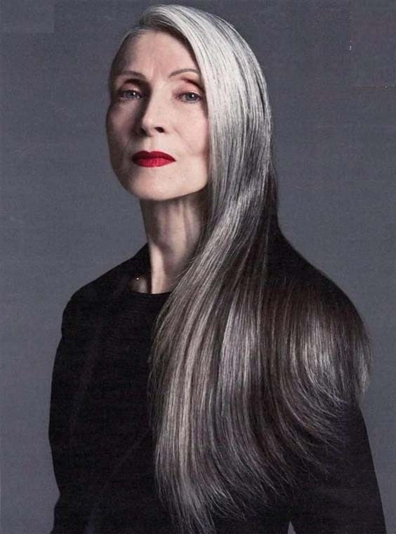 I Am Over 60 With Long Hair Recently At A Salon A Woman
