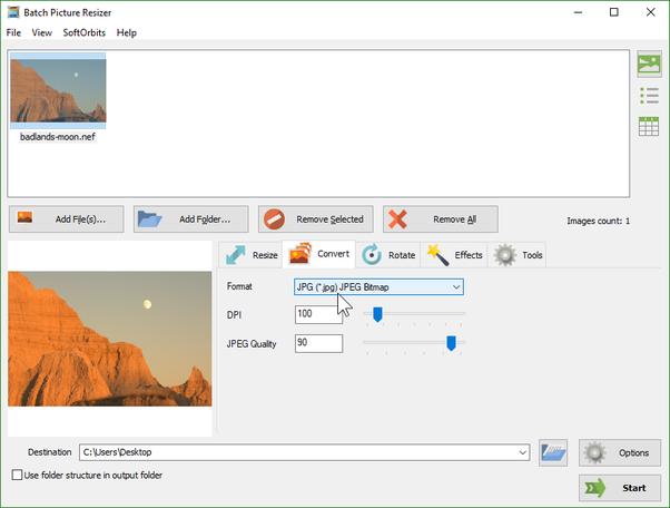 nef file to jpg converter