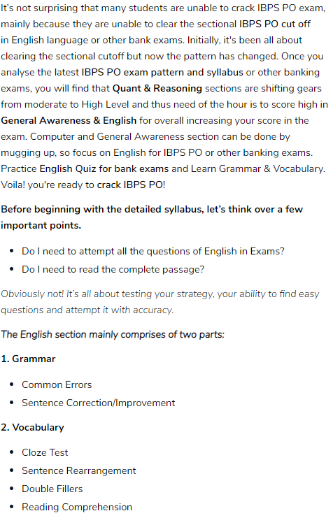 How to prepare in English for IBPS PO - Quora