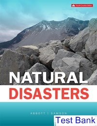 where can i get the test bank of natural disasters canadian 4th