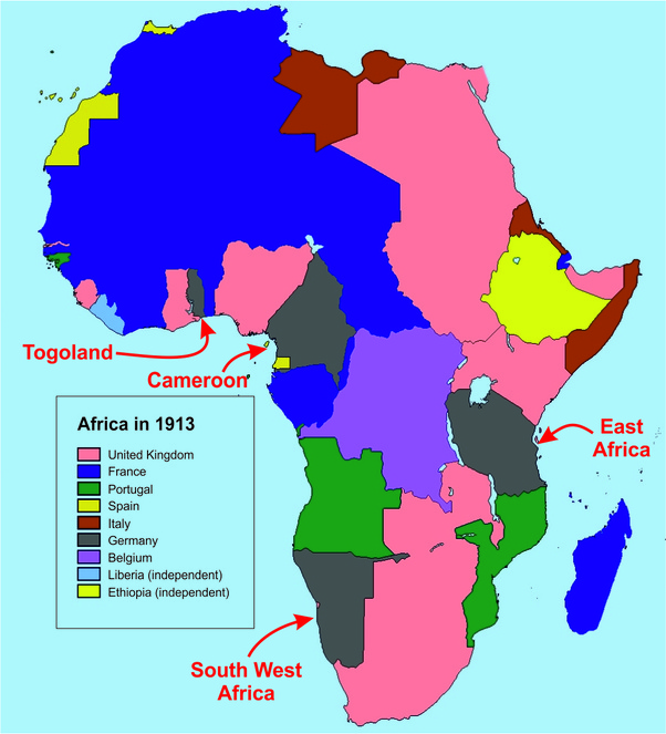 Southwest Africa Map.What If Hitler Had Demanded For Germany To Be Given Back Its Former