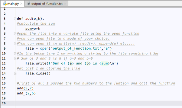 How to write the output of a function to a text file in
