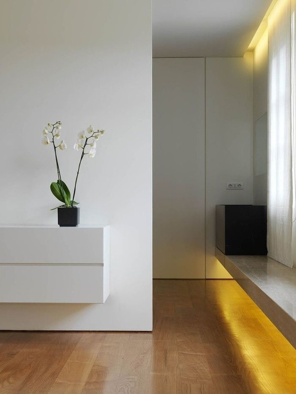 Even In Small Apartments The Style Of Minimalism There Is No Feeling Pressure Much Empty Space For Comfortable Moving And Great Importance