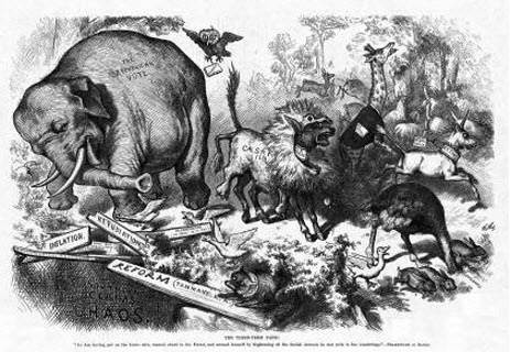 What Do The Donkey And The Elephant Symbols Of Democrats And