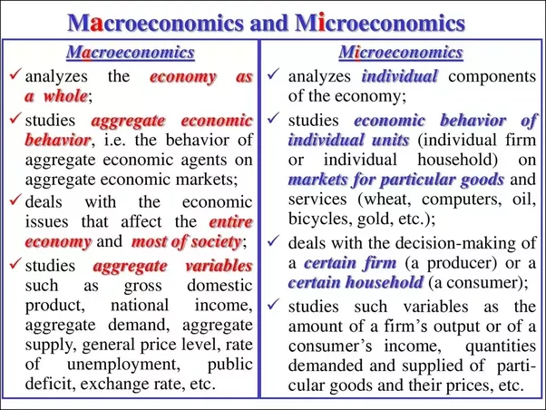 explain the difference between microeconomics and macroeconomics What is the difference between microeconomics and macroeconomics - 2323117 »  explain the difference between macroeconomics and microeconomics.