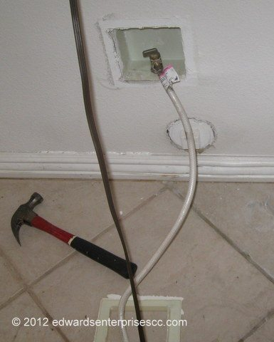 Hook up water line to fridge from sink