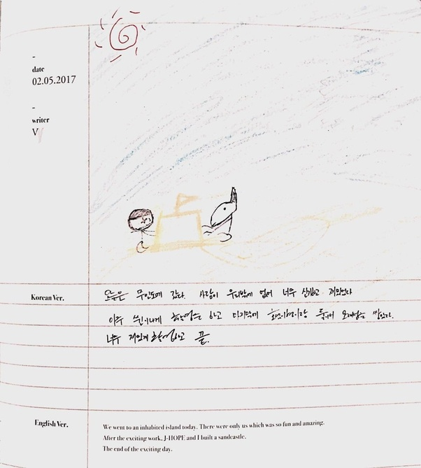 What does each member of BTS' handwriting look like? - Quora