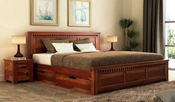 Adolph King Sized Bed With Storage Created A Premium Quality Sheesham Wood Is Perfect Fit For Your Resting Place The Natural Patterns Of Give