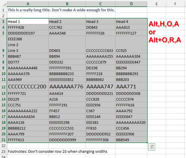 How to AutoFit in Excel - Quora