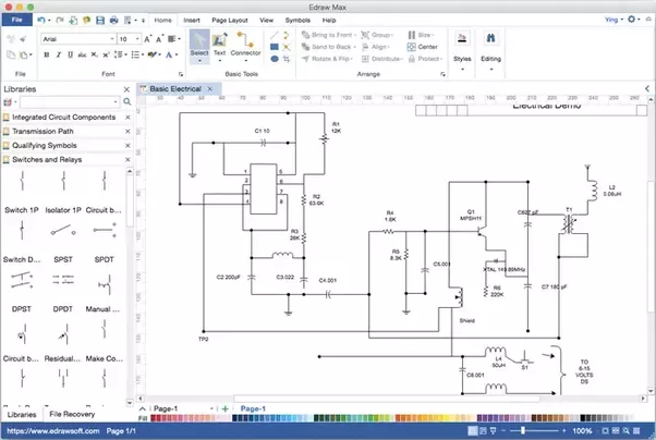 what is a free software for drawing electrical circuits on model a wiring diagram in color