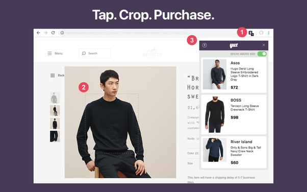 44cf76ba64edcc Yux, a visual search engine for Men's Fashion, is the fastest way to find  affordable clothing alternatives while browsing the web.
