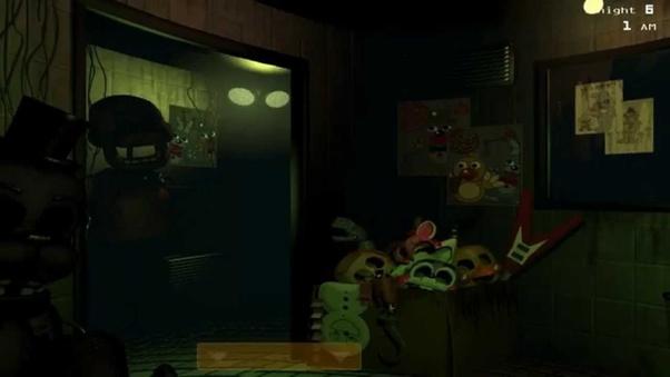 Why does FNAF Golden Freddy go through the doors in FNAF 1