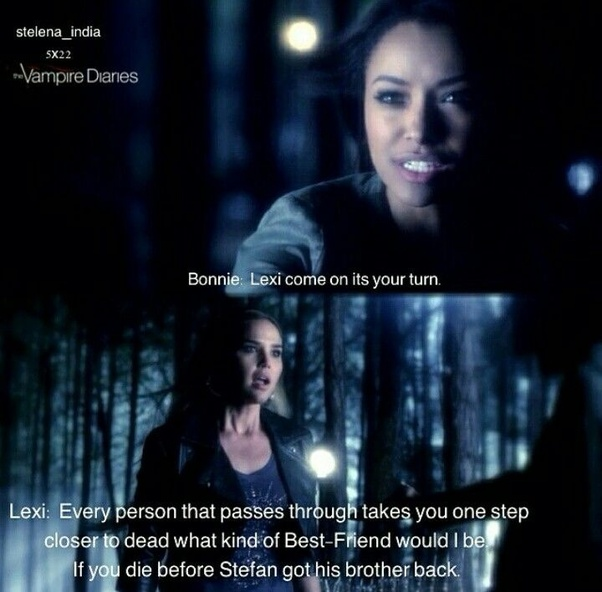 In The Vampire Diaries, what unfinished business did Lexi