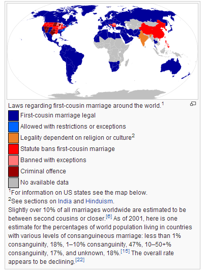 Cousin marriage law in the United States