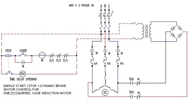 3 Phase Brake Motor Wiring Diagram : How do apply a brake in phase induction motor wire