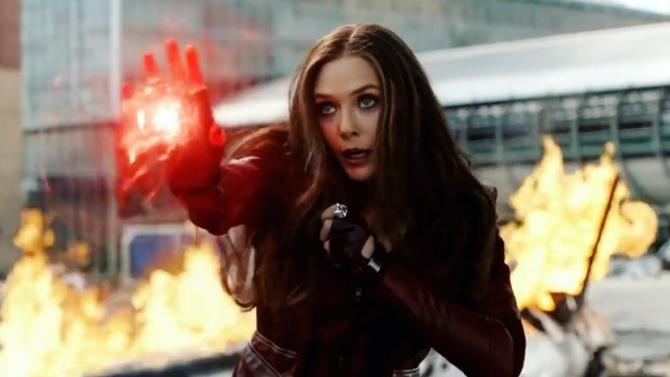 How was the Scarlet Witch able to defend herself against the
