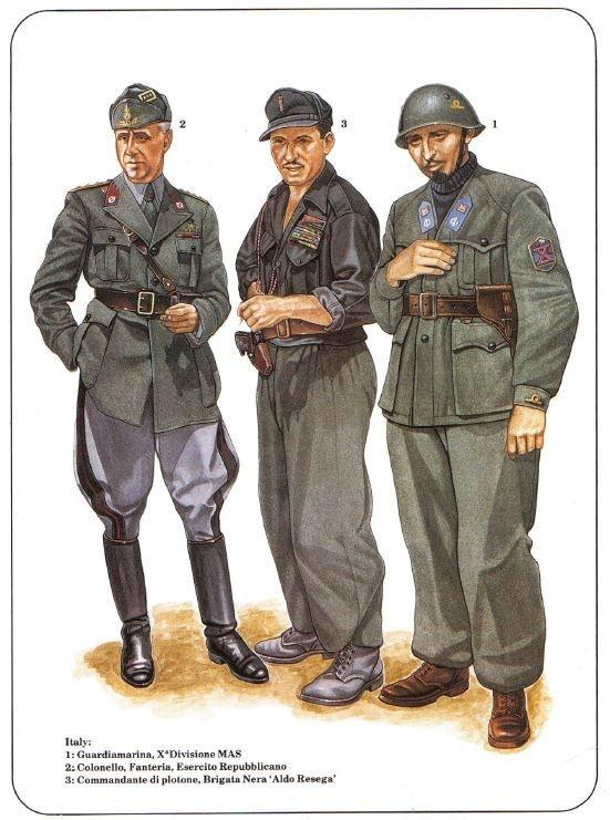 What uniforms did the italian infantry wear and what for Italian uniform