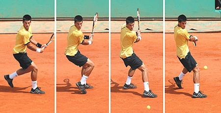Novak Djokovic An Ace Tennis Player Trying Out Two Handed Backhand