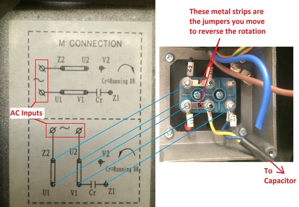 how to reverse the rotation of single phase 220v motor - quora reversible single phase ac motor wiring diagram