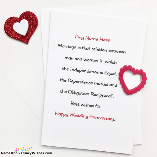 What is a good wedding anniversary wish quora simple happy wedding anniversary wishes are boring now a days so here is the new way to wish someone with their names name on wedding anniversary wishes m4hsunfo