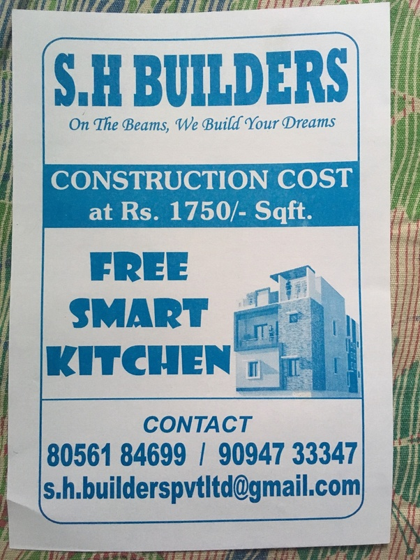 What is the construction cost in Chennai per sq ft? - Quora