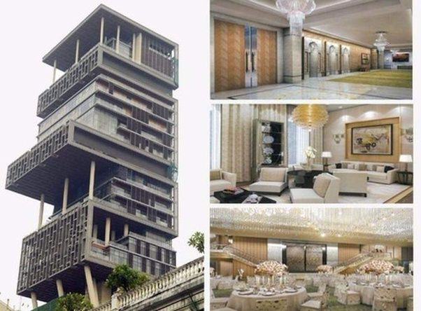 The House Has 27 Storeys And A Net Worth Of $1 Billion. It Is Owned By  Mukesh Ambani, The Fifth Richest Man In The World.