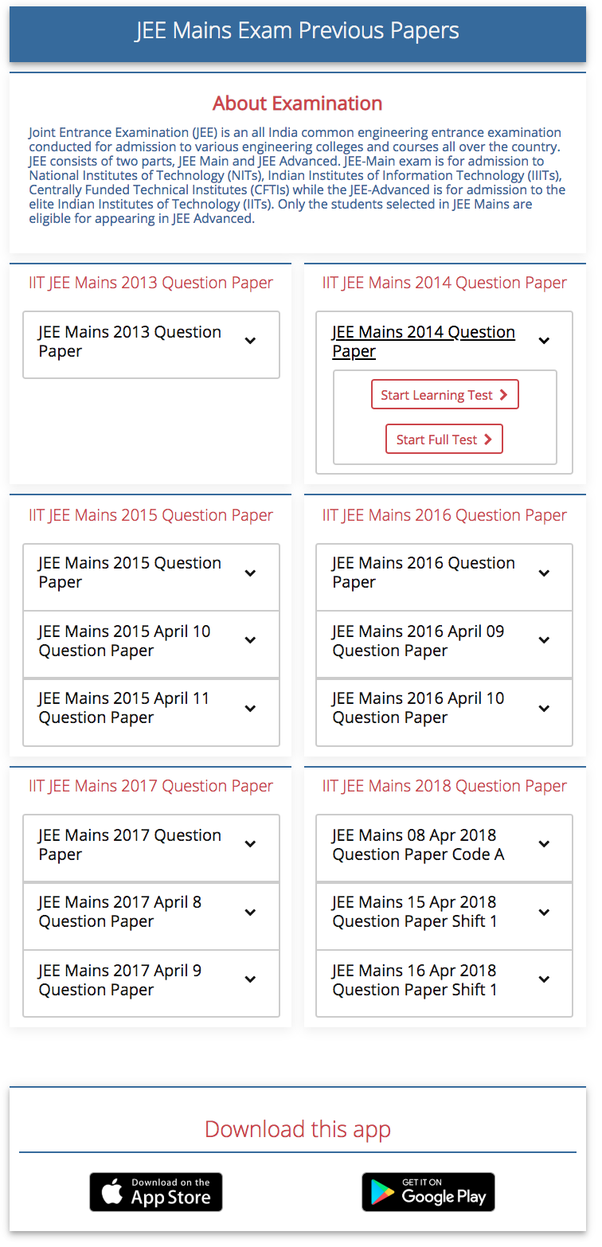 Iit pdf years 32 jee papers