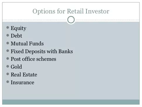Eee investment options india