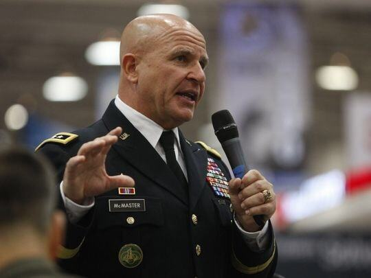 Why does Lt. Gen. H. R. McMaster wear only two rows of ...