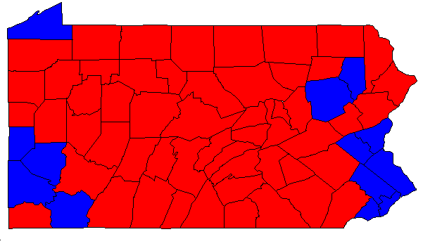 Why Isnt Pennsylvania A Solid Blue State Quora - Us Election Results Red Blue Map