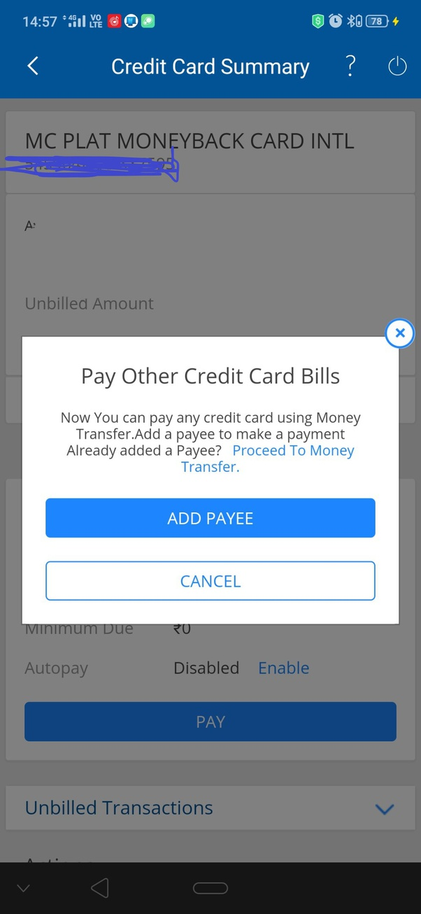 how to pay icici credit card bill through sbi net banking