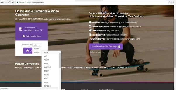 como convertir videos de mp4 a mp3 gratis