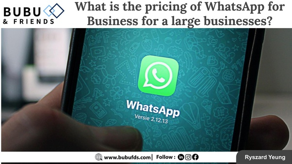 What Is The Pricing Of Whatsapp For Business For A Large Businesses Quora