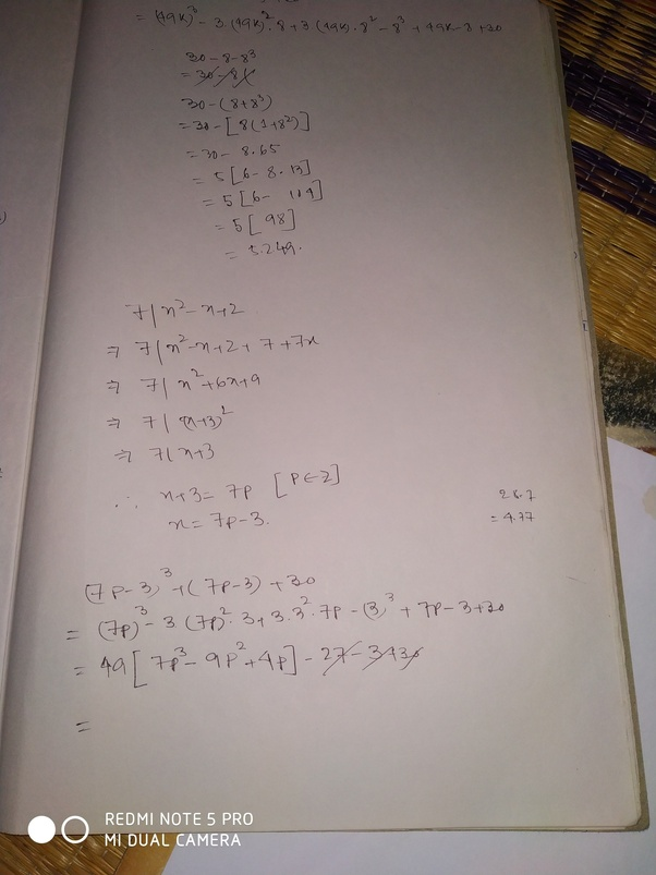 """How to solve the problem """"(x^3) +x+30 ≡ 0 (mod 7^2)"""" - Quora"""