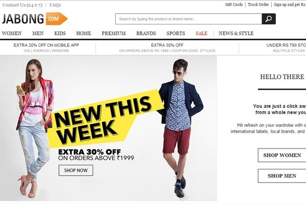 Online fashion shopping sites in india 54