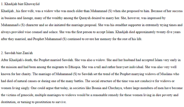 Why didn't Muhammad get married to any other woman while he