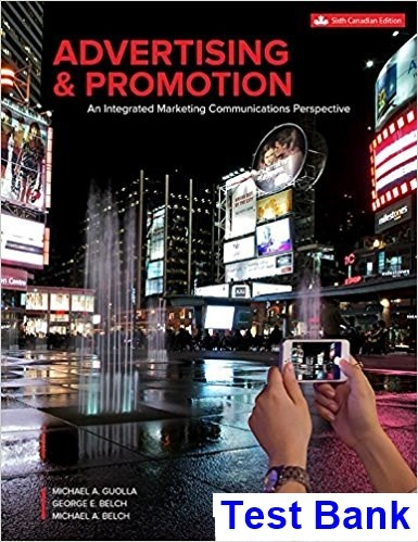 Advertising Promotion Canadian 6th Edition Guolla Test Bankpdf Perfect Recommended No Registration Required