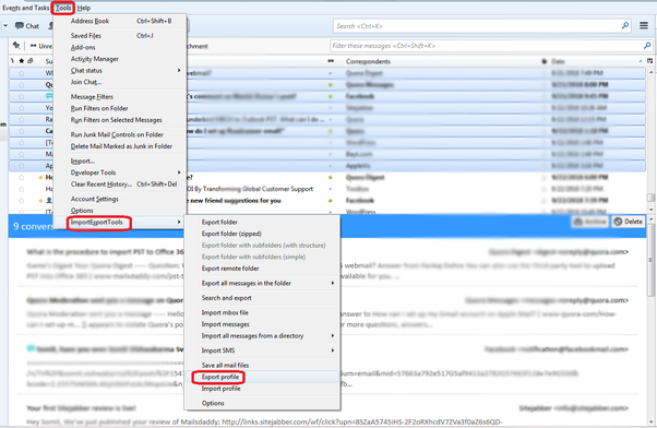 Thunderbird Import Mbox File Greyed Out