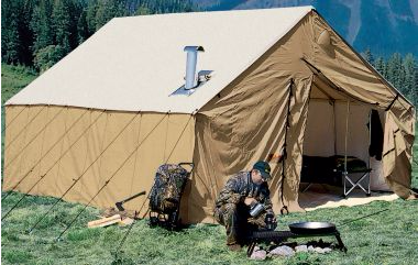 There are large hunting tents. Cabelas has a 320 square foot monster with stove. That should stand up to an Alaskan autumn. & Whatu0027s the best biggest camping tent availabe? - Quora