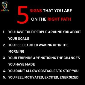 Signs that you are on right path