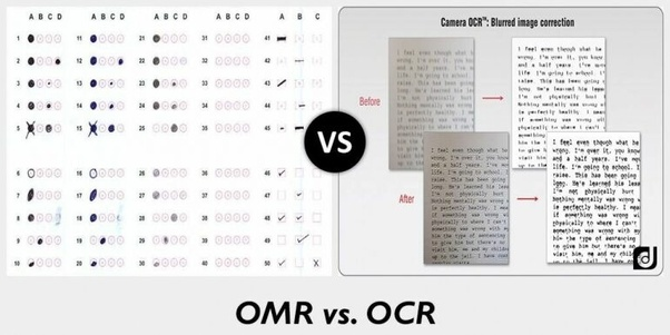How does OCR and OMR differ? - Quora