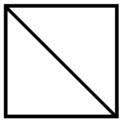 Image result for square with diagonal