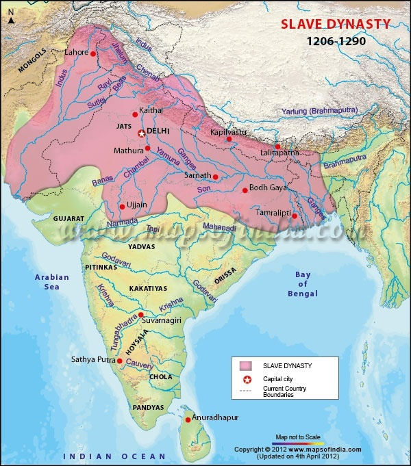 Who actually ruled india before sultans quora the map below shows who ruled various regions of india during reign of slave dynasty gumiabroncs Gallery
