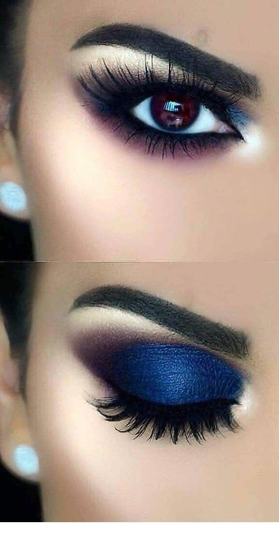 color eyeshadow goes with blue dress