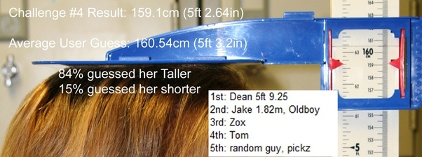 How Tall Is 159cm In Feet Quora