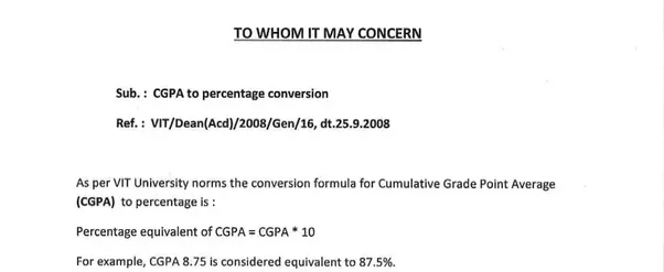 how to change cgpa to percentage