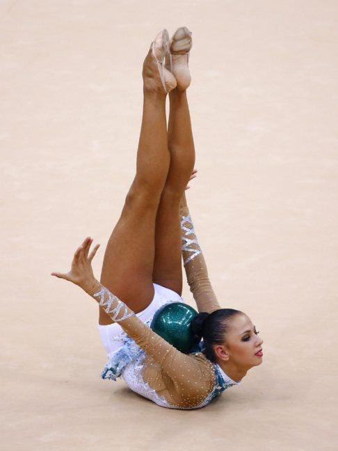 (Darya Dmitriyeva - London 2012 Olympics - individual all-around rhythmic  gymnastics qualifications - Wembley Arena)