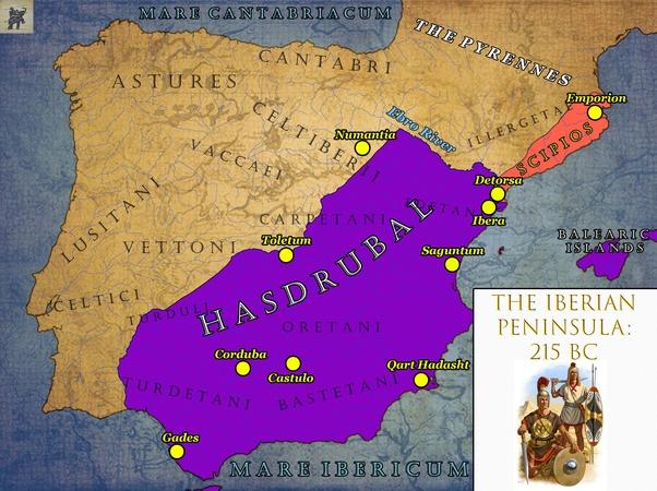 Pourquoi Hannibal A T Il Envahi L Italie Via La Peninsule Iberique Pourquoi Ne L A T Il Pas Fait Via La Sicile Quora