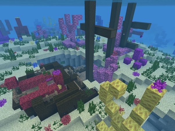 How to find a shipwreck in Minecraft: Pocket Edition - Quora
