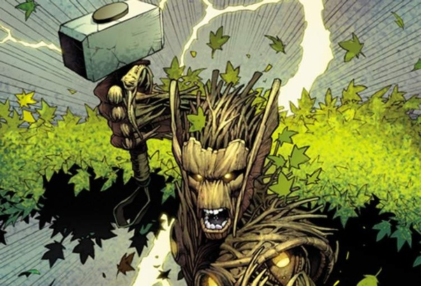 Did Groot use Mjölnir in Secret War? - Quora